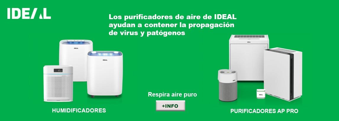 Purificadores de Aire para eliminación de virus y contaminantes